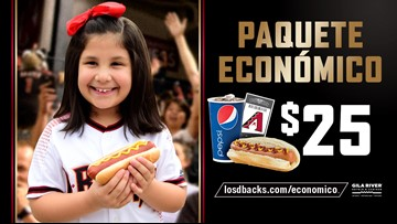 ¡Béisbol, hot dog y soda por $25! Solo con los D-backs