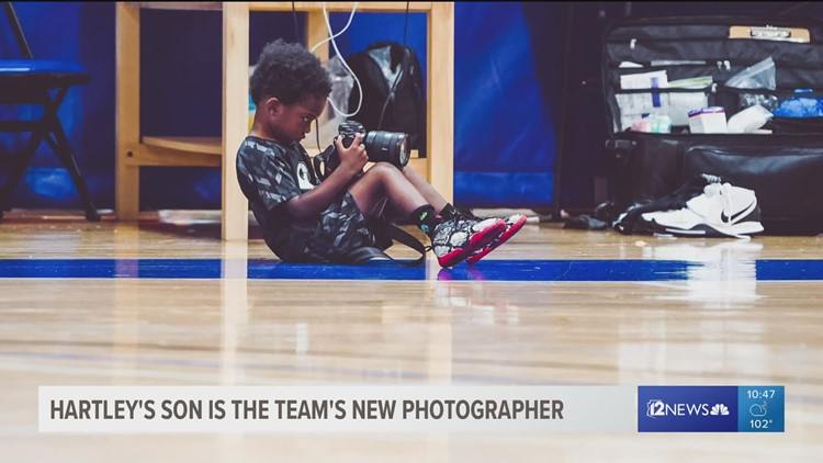 3-year-old son of Mercury's Bria Hartley has a future in photography