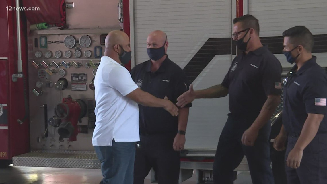 Buckeye man meets first responders who saved him
