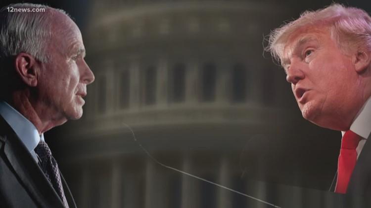 President Trump continues feud with late Sen. John McCain