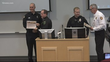Glendale officer and firefighter honored for men trapped inside burning apartment building