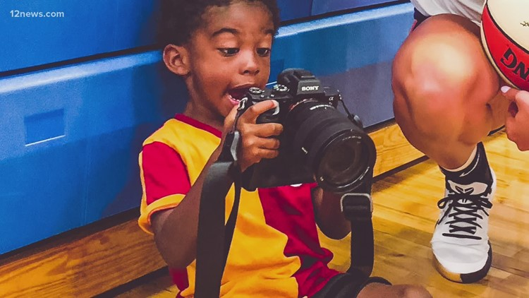 Bria Hartley's son is Mercury's newest photographer