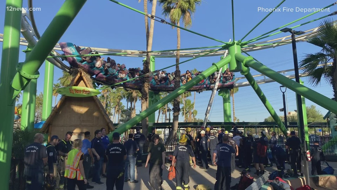 22 people rescued from stalled roller coaster