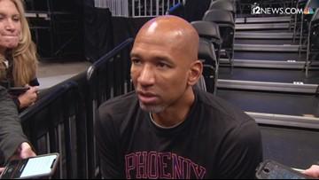 Phoenix Suns Coach Monty Williams and Point Guard Devin Booker talk about Deandre Ayton's suspension