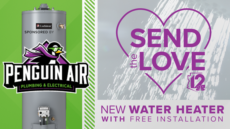 CONTEST ENDED:  Penguin Air Plumbing & Electrical Send The Love Heat Your Water