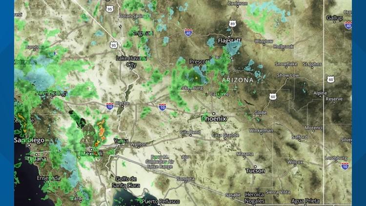 Radar: Track the storm over Arizona
