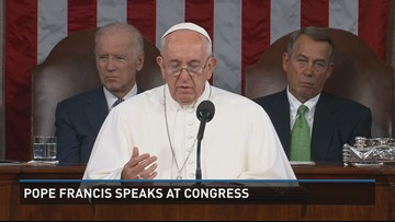 Pope Francis speaks to Congress 2 of 4