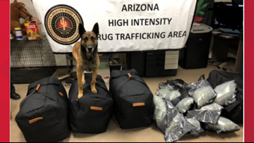100 pounds of marijuana seized during traffic stop in Navajo County, officials say