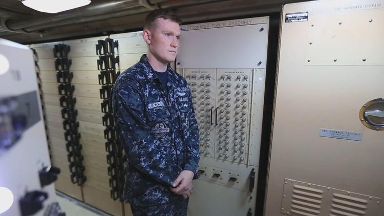Cody Blackburn, Phoenix resident and U.S.S. Kentucky missile technician. (Photo: Chad Bricks, 12 News)