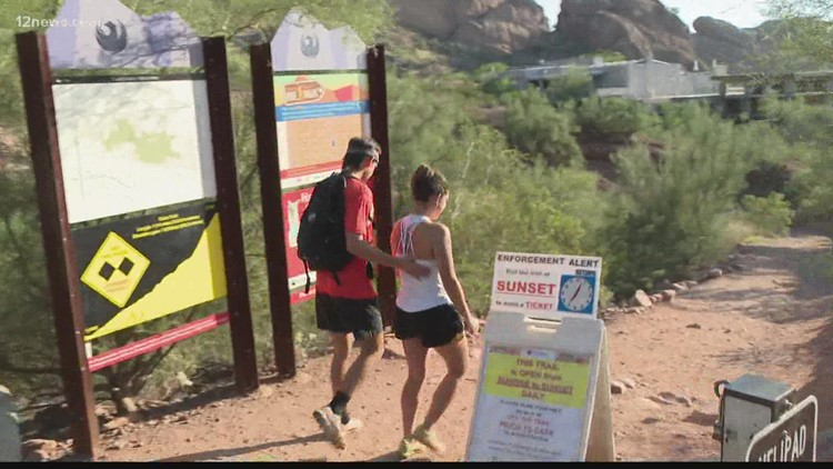 Hikers beware taking on difficult trails during triple-digit heat