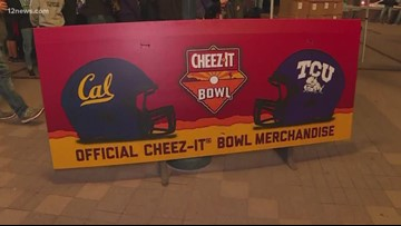 Crowd pumped up for the Cheez-It Bowl
