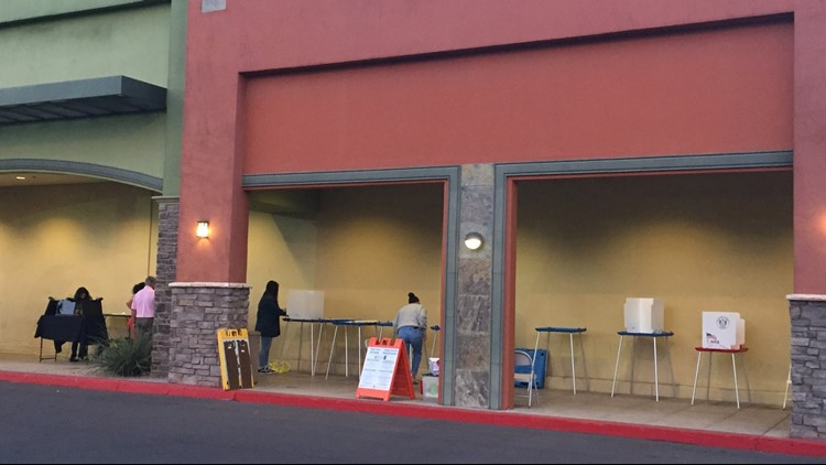 poll workers at gila precinct