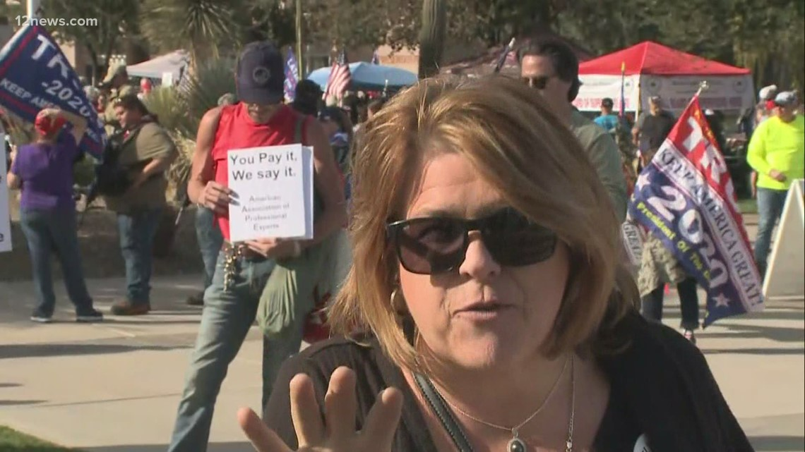 Trump supporters gather for election protest at Arizona State Capitol