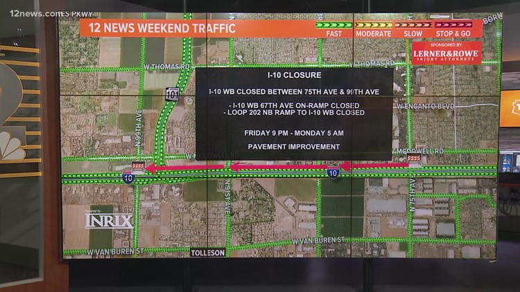 Weekend traffic report for Oct. 15 - Oct. 18