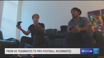 From high school teammates to pro-football roommates