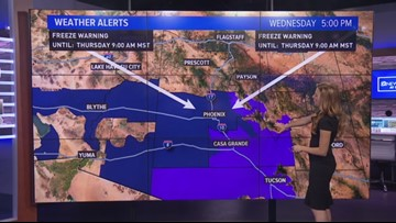5 million Arizonans face freeze warnings