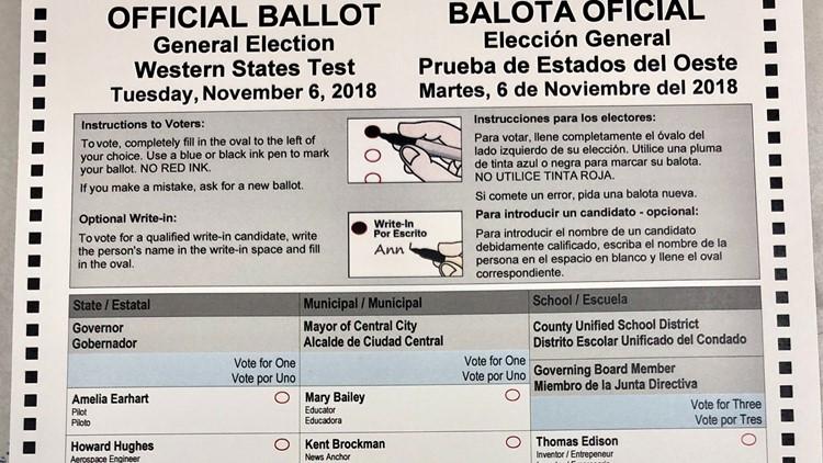 Ejemplo de las nuevas boletas electorales