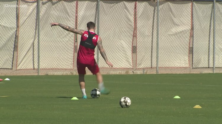 Phoenix Rising returns to practice while the Caridnals' carryout program makes an impact