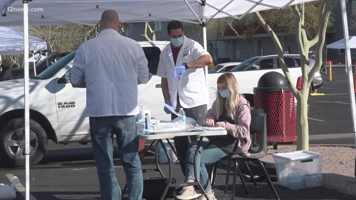 Peoria Unified School District vaccination site for educators