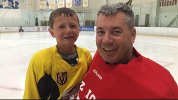 Arizona National Guardsman has emotional reunion with son at hockey practice
