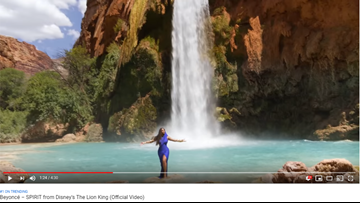 Beyoncé releases music video for 'SPIRIT' featuring shots of Havasu Falls