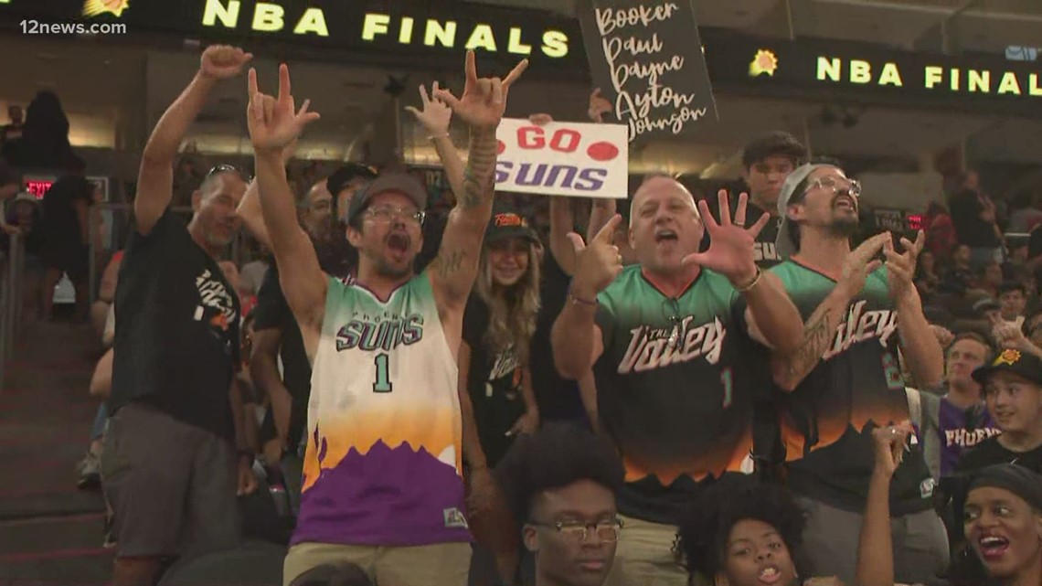 Phoenix Suns fans getting fired up ahead of Game 6 of the NBA Finals