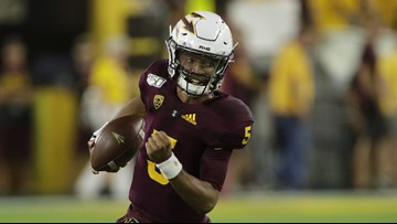 ASU Quarterback Jayden Daniels returns home against UCLA