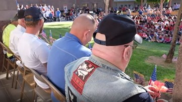 Students at Phoenix school hold touching ceremony ahead of Veterans Day