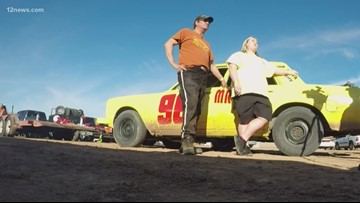 Arizona man surprises niece with race car, honoring her late father