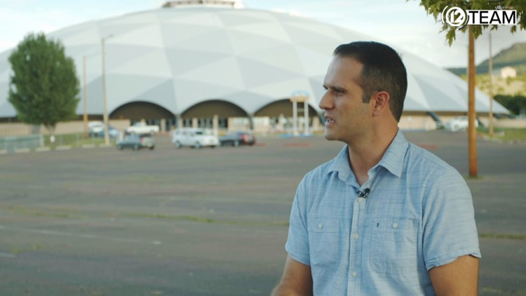 Chris Wilson in front of Round Valley Dome