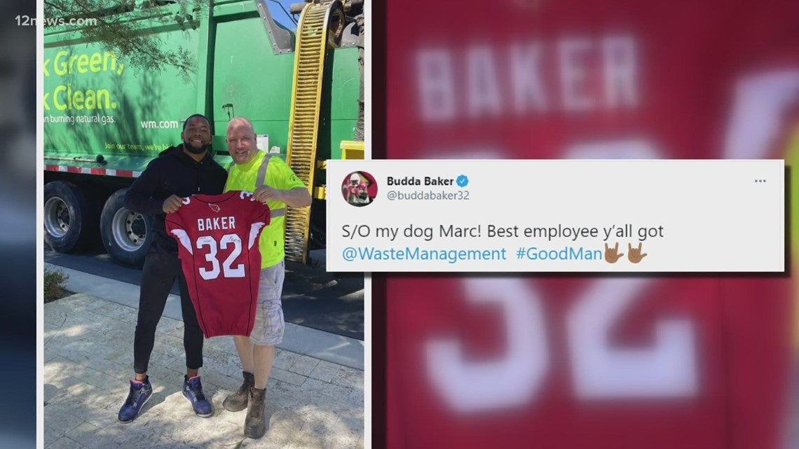 Cardinals safety Budda Baker makes sanitation worker his fan for life