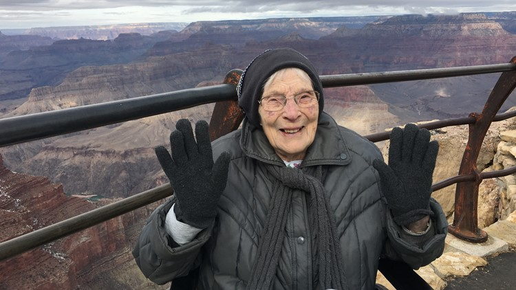 'It's absolutely breathtaking': 103-year-old woman becomes junior ranger at Grand Canyon