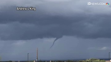 Possible cold air funnel spotted in Phoenix area
