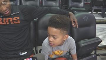 Jamal Crawford passing his skills onto his 8-year-old son