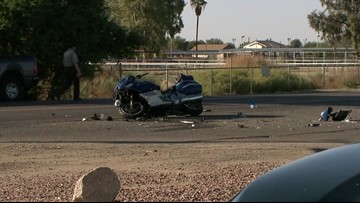 Motorcyclist dies after crash with car in Queen Creek