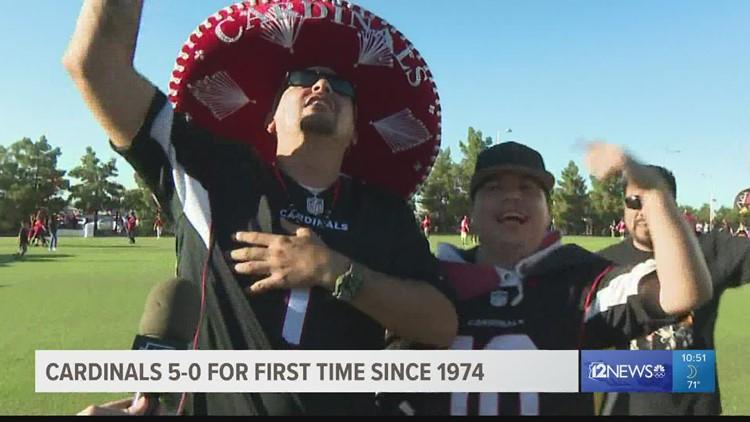 Arizona Cardinals fans celebrate historic 5-0 start to season