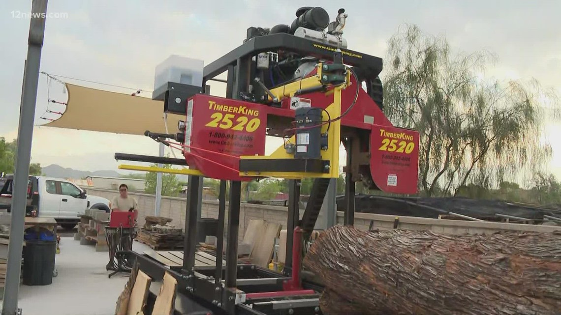 How a Valley business is turning tress destroyed by monsoon storms into works of art