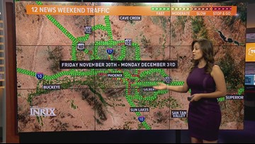 Here's your weekend traffic outlook for November 30 -December 3