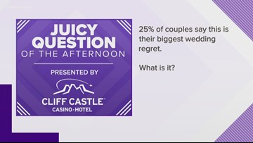 Juicy Question: 25% of couples say THIS is their biggest wedding regert