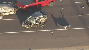 Wrongway crash on I-17 Tuesday morning sends woman to the hospital