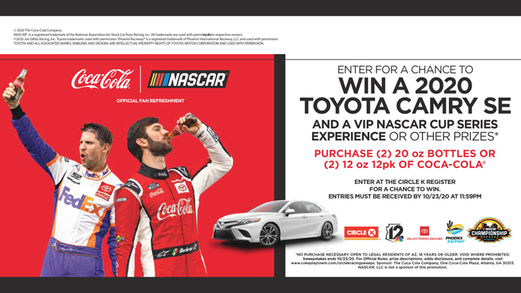 CONTEST ENDED:  The Coca-Cola's Race Team Sweepstakes
