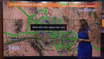 Weekend traffic for Sept. 27 - Sept. 30