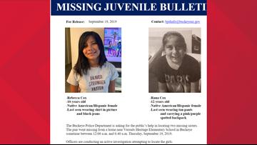 Buckeye police need help finding 2 missing sisters