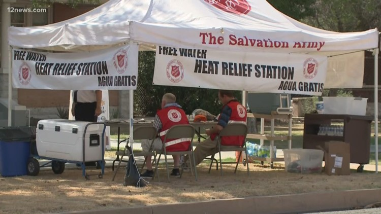 Salvation Army activates Phoenix-area heat relief stations for excessive heat warning