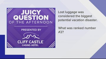 Juicy Question: THIS is the 2nd biggest vacation disaster after lost luggage