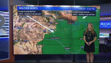 Flash flood watches in effect this weekend