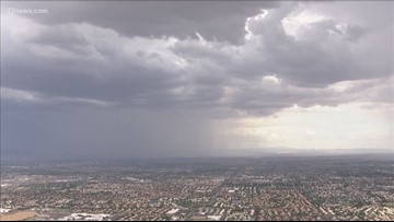 Monsoon storms moving into the Valley