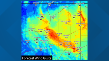 High winds, dangerous fire conditions forecast for Mogollon Rim Sunday