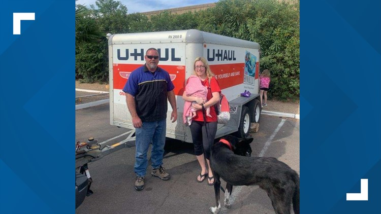 DPS returns U-Haul trailer stolen from family moving to Arizona