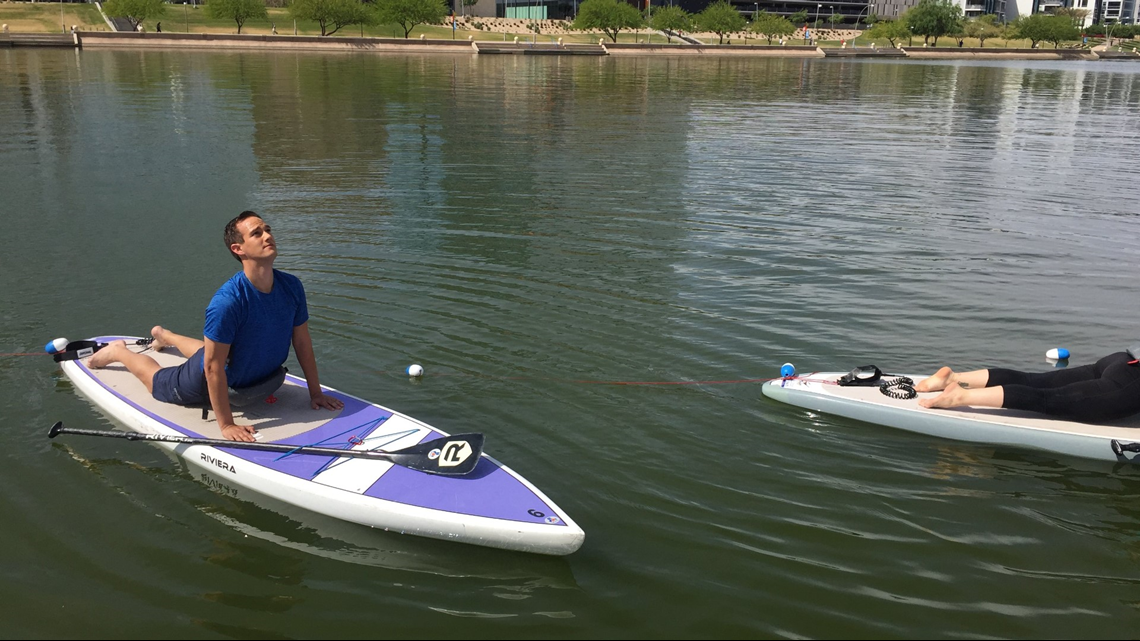 You can relax in Tempe with a little yoga on a paddleboard